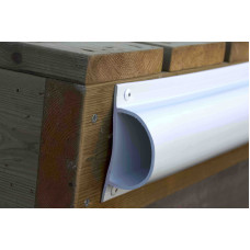 Steiger stootrand Pro-Dock D-Profiel (plat)  PVC 120 cm Kort - ZONDER kern  - diverse kleuren