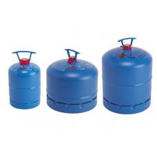 Gasfles Campinggas 907 aanschaffen (nieuwe) blauw metaal - aanschaf incl. vulling (alleen vulling is € 34,-)