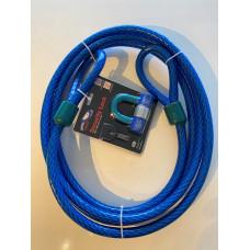 STAZO waterbestendig hangslot incl. kabel met 2 ogen, 5 meter lengte  x 20 mm dikte, Type ECP 500 ART4146 - Aanbevolen door verzekering maatschappij