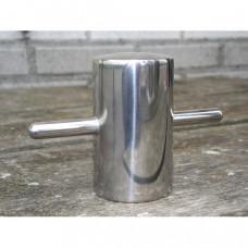 Lasbolder RVS - zonder voetplaat op staal te lassen, hoogte 8 cm