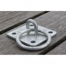 Afmeerring / steigerring gegalvaniseerd staal 55 x 55 x 3 mm, ring doorsnede 6 mm