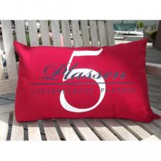 Kussen - Sunbrella stof met opdruk 42x75cm - rood