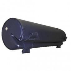 Kussen type Bedflex, model Rugleuning rond, kleur blauw