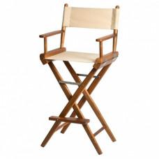 Stuurstoel - Hoge regisseurstoel canvas - teakhout en rvs sluitingen