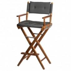 Stuurstoel - Hoge regisseurstoel de luxe - teakhout en rvs sluitingen