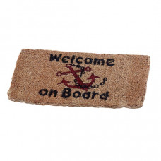 Talamex kokosmat \'welcome on board\' - 25x50cm klein