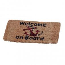 Talamex kokosmat \'welcome on board\' - 35x70cm groot