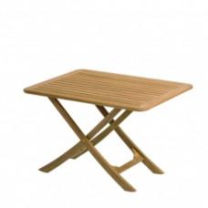 Teak houten tafel \'Provence\' 90 x 70 x 59/70 cm