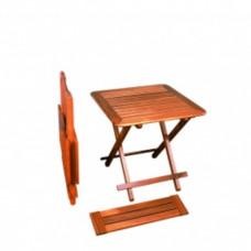 Teak houten tafel \'Brest\' 60 x 60/76 x 60/70 cm