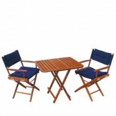 Teak houten tafel \'Southampton\' 60 x 60 x 60 cm