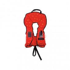Reddingsvest, zwemvest, type Besto BEBE 100 N  voor kinderen tot 10 kg tot 80cm lengte,  maat no.1, kleur oranje met gele sterren