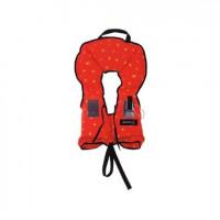 Reddingsvest, zwemvest, type Besto BEBE 100 N  voor kinderen van 10 tot 20 kg tot 110cm lengte, Maat no.2, kleur oranje met gele sterren