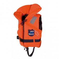 Reddingsvest, zwemvest type Besto Racingbelt 100 N, oranje print, maat: Junior 30 tot 40 kg