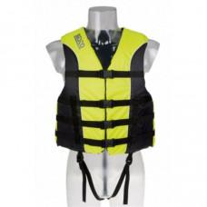 Reddingsvest, zwemvest, geschikt voor waterskiën en jetskiën, voor personen van 30 tot 40 kg, maat XS, 50 Newton, kleur geel/zwart, type Besto Impact,