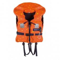 Reddingsvest, zwemvest type Besto Racingbelt Special 100 N, oranje + gele sterren, Maat: Child 20 tot 30 kg