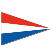 Nederlandse punt vlag (spunpolyester) rood / wit / blauw - diverse afmetingen