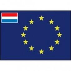 Raad van Europa vlag met kleine vlag Nederland in de hoek - prijs vanaf: 50 x 75 cm
