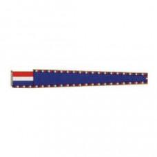 Blauwe wimpel vlag (voor beroepsvaart) - Vleugel 1,00 meter