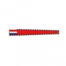 Rode wimpel vlag (voor pleziervaart) - Vleugel 1,5 meter