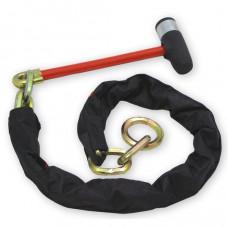 slot type Double Lock, Loop Chain, 200 cm ketting met slot (weer LEVERBAAR!)